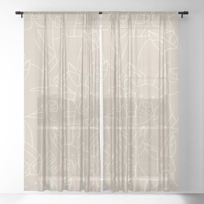 Minimalist Kangaroo Sheer Curtain