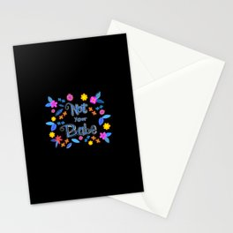 Bright Floral 'Not Your Babe' print Stationery Cards