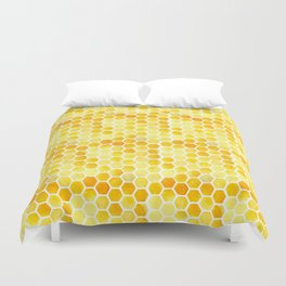 Watercolour Honeycomb Duvet Cover