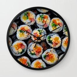Colorful Tasty Sushi Wall Clock