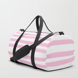 Pink Stripes Horizontal Duffle Bag