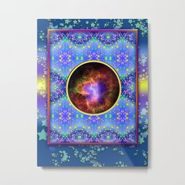 Stars and Space Framed Metal Print