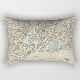 Automobile road map of the Metropolitan District. Rectangular Pillow