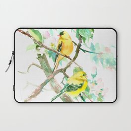American Goldfinch and Apple Blossom Laptop Sleeve