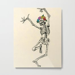 Dancing Skeleton Metal Print