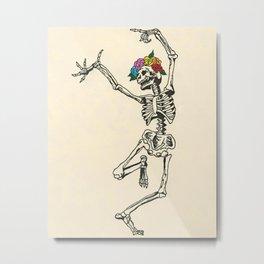 Dancing Skeleton Metal Print