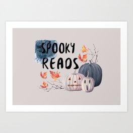 Spooky Reads Art Print