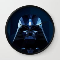 darth Wall Clocks featuring Darth by Ed Burczyk