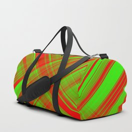 Red Green background christmas advent Duffle Bag
