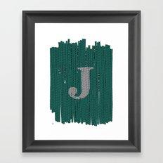 Winter clothes. Letter J III Framed Art Print
