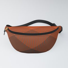 Orange to Black Ombre Signal Fanny Pack