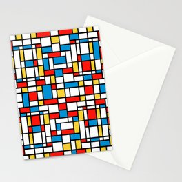 Mondrian design, abstract pattern Stationery Cards
