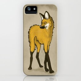Chrysocyon In Mono. iPhone Case