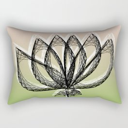 Geometric Flower Rectangular Pillow