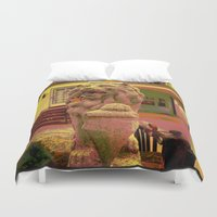 lion king Duvet Covers featuring Lion 'King' by ArtAngel