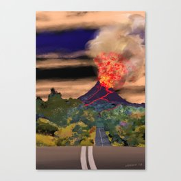 The Road to Mullumbimby Canvas Print
