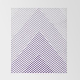 Shades of Purple Abstract geometric pattern Throw Blanket