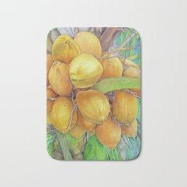 Golden Coconuts Bath Mat