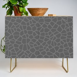 Staklo (Gray on Gray) Credenza