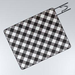 Gingham - Black Picnic Blanket