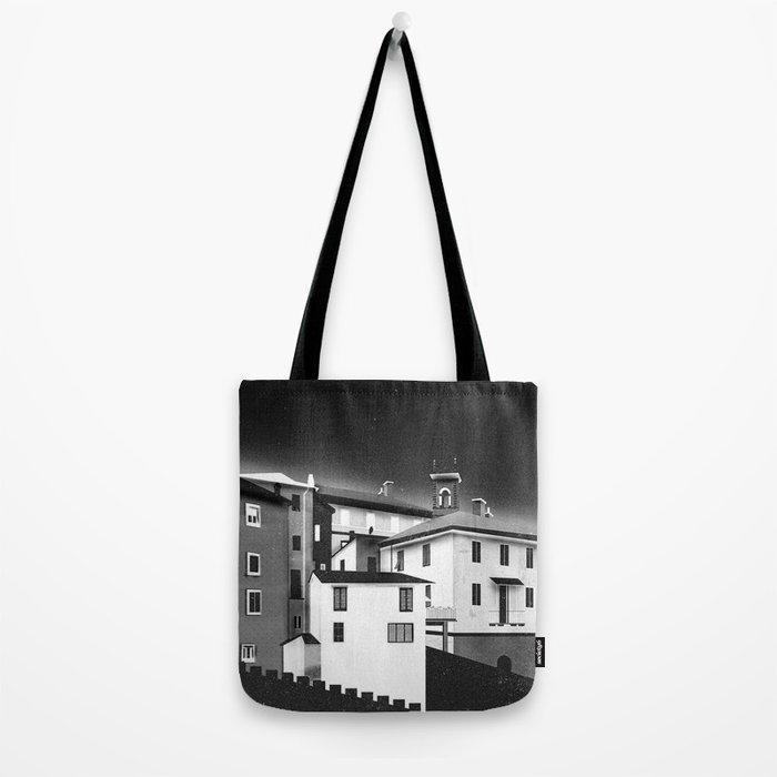 Castles at Night (B&W) Tote Bag