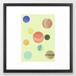 Minimal Solar System Framed Art Print