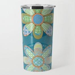 Zen Flowers Travel Mug