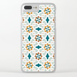 Geometric Pattern, oriental style (nature color set)  traditional morocco tile pattern Clear iPhone Case