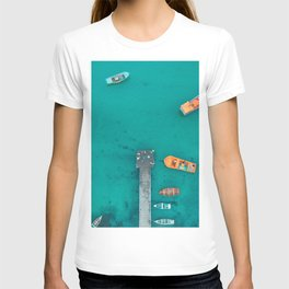 boats in the pier T-shirt