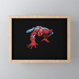 crawling spider man Framed Mini Art Print