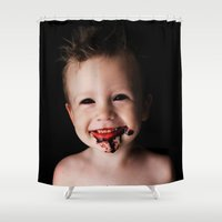 baby Shower Curtains featuring BABY by Miklos