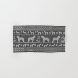 Ugly Christmas sweater | Lagotto Romagnolo grey Hand & Bath Towel