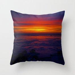 Sunrise in the Vortex Throw Pillow