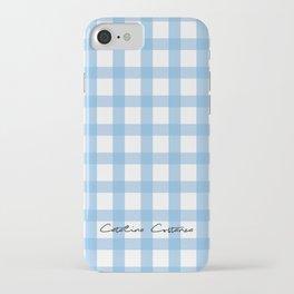 Indigo Gingham iPhone Case