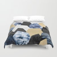 minerals Duvet Covers featuring Rock Formations by Elisabeth Fredriksson