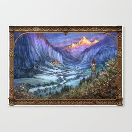 The Hidden Valley in Winter (bordered) Canvas Print