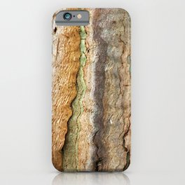 Eucalyptus Tree Bark and Wood Abstract Natural Texture 35 iPhone Case