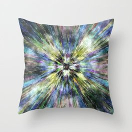 Colorful Watercolor Tie Dye Throw Pillow