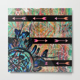 Tribal Boho Dreamcatcher Arrows Metal Print