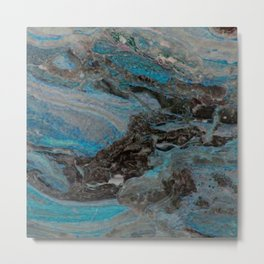 Marble, it is cool, aloof and especially elegant Metal Print