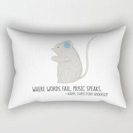 Music Speaks Mouse Rectangular Pillow