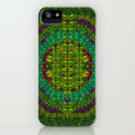 Butterfly flower jungle and full of leaves everywhere iPhone Case