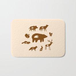 Nature Trail in Coffee and Cream Bath Mat