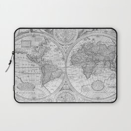 Antique Gray Map Laptop Sleeve