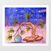charlie brown Art Prints featuring Charlie Brown Christmas Tree by MSG Imaging
