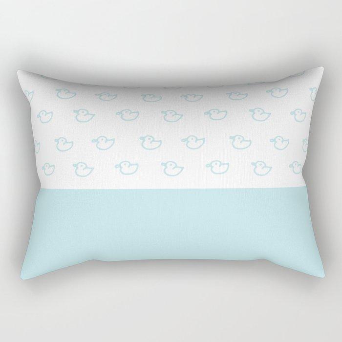 Ducklings Mint Rectangular Pillow