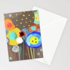 Blue Polka Dots - Ruth Fitta-Schulz Watercolour Art 2017 Stationery Cards