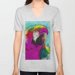 parrot ara art #ara #parrot #animals Unisex V-Neck