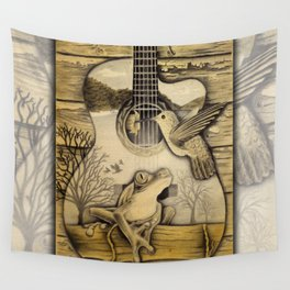 Porch Song Drawing Wall Tapestry