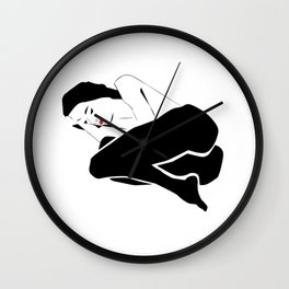 Woman lying Wall Clock